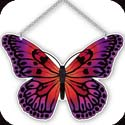 Suncatcher-SSE1018R-Magenta/Orange Butterfly - Magenta/Orange Butterfly