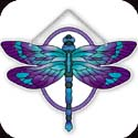 Suncatcher-SSE1020R-Purple/Teal Dragonfly - Purple/Teal Dragonfly