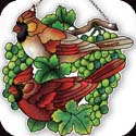 Suncatcher-SSE1027R-Cardinals & Green Grapes - Cardinals & Green Grapes