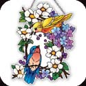 Suncatcher-SSE1032R-Birds on a Wreath - Birds on a Wreath