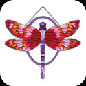 Suncatcher-SSF1008-Red/Purple Dragonfly - Red/Purple Dragonfly