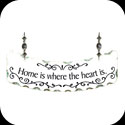 Suncatcher-SSN1009-Home is where the Heart is. - Home is where the Heart is.