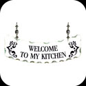 Suncatcher-SSN1022-WELCOME to my kitchen. - WELCOME to my kitchen.