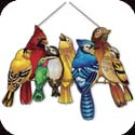 Suncatcher-SSP1007R-Birds of a Wire - Birds of a Wire