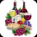Suncatcher-SSP1011R-Wine & Cheese - Wine & Cheese