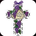 Suncatcher-SX2001R-Grape Arbor/I am the vine... - Grape Arbor/I am the vine; you are the branches. Jn. 15:5