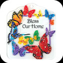 Tile Plaque-TP1019R-Butterflies/Bless Our Home - Butterflies/Bless Our Home