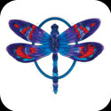 Garden Plaque-TPF1013-Purple/Blue Dragonfly - Purple/Blue Dragonfly