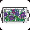 Tray-TR203R-Purple Irises - Purple Irises