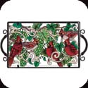 Tray-TR220R-Cardinals & Green Grapes - Cardinals & Green Grapes