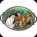 Tray-TR304R-Tiffany Cats - Tiffany Cats