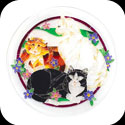 Trivet-TTV004-Tiffany Cats - Tiffany Cats