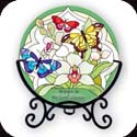 Candleware-VMC171-Butterfly Garden/Rejoice in the Lord always. Phil. 4:4 - Butterfly Garden/Rejoice in the Lord always. Phil. 4:4