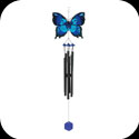 Windchimes-WCH509-Blue & Black Butterfly - Blue & Black Butterfly