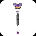 Windchimes-WCH511-Purple & Orange Butterfly - Purple & Orange Butterfly