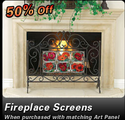 Save 50% on Fireplace Screens!